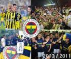 Fenerbahçe SK, campeão da liga de futebol turco, Super Liga 2010-2011