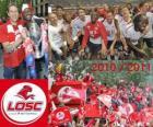 LOSC Lille, campeão da liga francesa de futebol, a Ligue 1 2010-2011