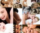 Mães com filhos