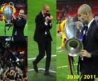 Josep Guardiola, celebrando a Liga dos Campeões 2010-2011