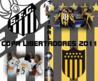 Santos FC - Montevidéu Peñarol. Final da Copa Libertadores 2011