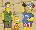 Simpson família visitar Jerusalém