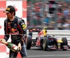 Mark Webber - Red Bull - Silverstone Grand Prix da Grã-Bretanha (2011) (3 º lugar)