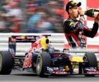Sebastian Vettel - Red Bull - Silverstone Grand Prix da Grã-Bretanha (2011) (2 º Lugar)