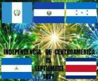 Independência da América Central, 15 set 1821. Comemoração da independência da Espanha no actuais países de Guatemala, Honduras, El Salvador, Nicarágua e Costa Rica