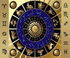 Os doze signos do zodíaco, a Roda do Zodíaco ou Círculo do Zodíaco