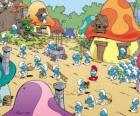 Um dia na aldeia dos Smurfs
