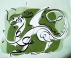 O dragão, o signo do Dragão, o Ano do Dragão. qunito animal do zodíaco chinês