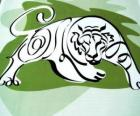 O tigre, o sinal de tigre, o Ano do Tigre. O terceiro sinal dos doze animais do zodíaco chinês