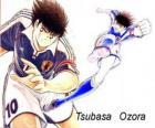 Tsubasa Ozora é Captain Tsubasa, o capitão do time de futebol japonês