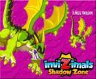 Jungle Dragon. Invizimals A nova dimensão. Dragões da floresta tem uma arma poderosa, um ácido que cuspir contra o inimigo