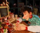 Arthur Christmas, responsável por responder às cartas de crianças do mundo