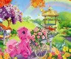 My little Pony rodeado por flores