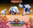 Freezefur, última evolução. Invizimals Tribos Perdidas. Uma enorme besta, violenta e feroz