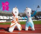 As mascotes dos Jogos Olímpicos e Paraolímpicos de Londres 2012 são Wenlock e Mandeville