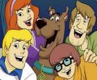 Scooby Doo e toda a gangue: Salsicha, Velma, Fred e Daphne