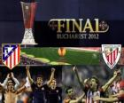 Atlético Madrid vs Athletic Bilbao. Final Europa League 2011-2012 no Estádio Nacional de Bucareste, na Roménia