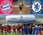 Bayern de Munique vs Chelsea FC. Final da UEFA Champions League 2011-2012. Allianz Arena, Munique, Alemanha