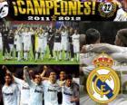 Real Madrid, campeão da Liga espanhola de futebol 2011-2012