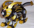 O Zord Leão, Power Ranger Amarelo. Ninja Power Rangers