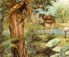 O Diabo como uma serpente na Árvore do Ciência do Bem e do Mal
