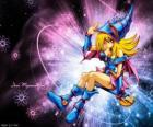 A menina da magia oscura é uma outra forma que Pégaso usa contra Kaiba