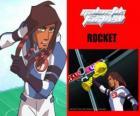 Rocket é o capitão da equipa de futebol Galáctico Snow-Kids com o número 5