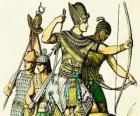 Soldado egípcio com um arco