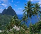 Os Pitons, ilha de Santa Lucia