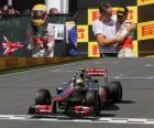 Lewis Hamilton comemora sua vitória no Grande Prêmio do Canadá (2012)