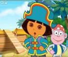 Dora, a aventureira, a capitão pirata