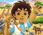 Diego e o Bebê Jaguar ajudar os animais em perigo na serie Go, Diego, Go!