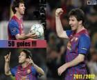 Leo Messi, maior artilheiro da história da liga espanhola, 2011-2012