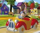 Noddy dirigindo seu carro
