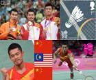 Badminton simples masculino LDN 12
