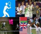 Tênis duplas mista Londres 2012