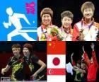 Tênis mesa equipes femininas LDN12