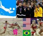 Voleibol de praia feminino LDN 12