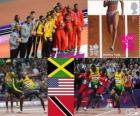 Atletismo 4x100m masculino LDN2012