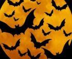 Morcegos para a celebração do Halloween