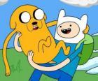 Finn e Jake, os principais protagonistas de Adventure Time, Hora de Aventura