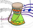 Um desenho de um tambor africano