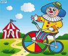 Palhaço de bicicleta