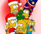 Os Simpsons desejando-lhe um Feliz Natal