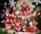 Grupo de elfos de Natal