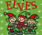 Três pequenos elfos do Papai Noel