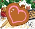 Biscoito em forma de coração