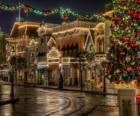 Rua decorada o Natal