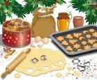 Preparar biscoitos de Natal