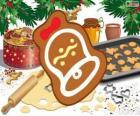 Bolinho de Natal como um sino